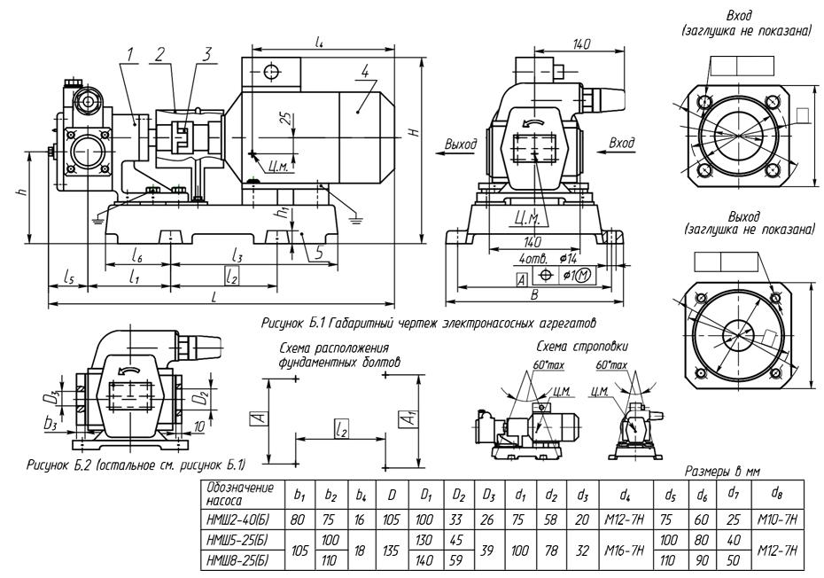 gabaritnyj-chertezh-nasosnyx-agregatov-nmsh2-40-nmsh5-205-nmsh8-25
